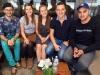 00 - Interviewer mit Gruppenmitgliedern von links - Mario Kraft, Hannah Lunderup, Rebecca Lunderup, Timon Feld, Suleiman Sedeghi