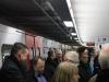 Voller Bahnsteig am Jungfernstieg