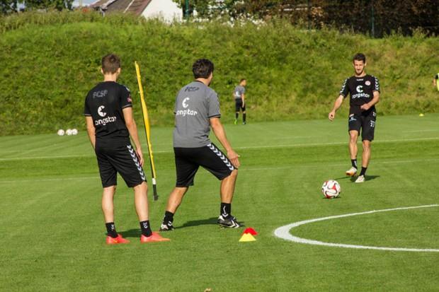 Jan Philipp Kalla im Training mit Thomas Meggle