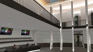 Der neue Kassenbereich des Planetariums