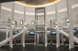 Das neue Foyer des Planetariums
