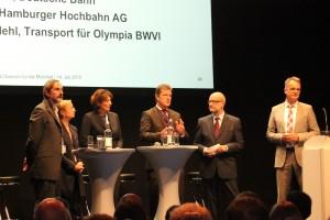 Diskussion bei der Sadtwerkstatt zum Mobilitätskonzept der Olympischen Spiele 2014