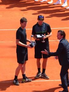 Sieger im Doppel Murray und Pierce
