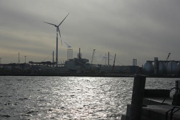 Nutzung von Windenergie im Hamburger Hafen