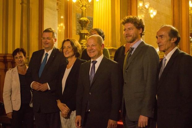 Sportausschuss des Bundestages im Rathaus bei Bürgermeister Olaf scholz