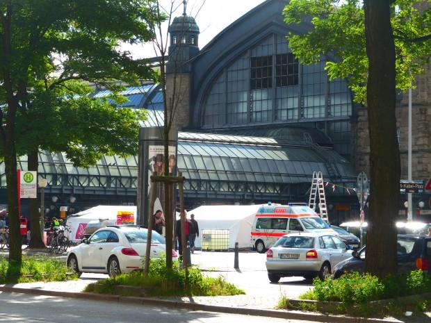 Aufnahmestelle am Hauptbahnhof