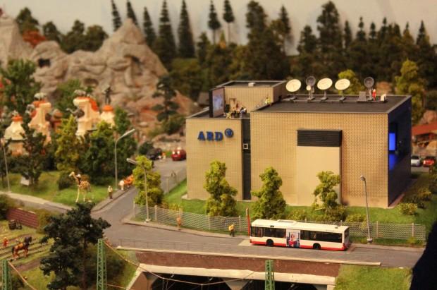Präsentation des neuen Hightech-Studios der Tagesschau im Miniaturwunderland