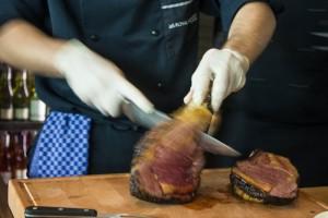 Fleischspezialitäten zubereitet von Küchenchef Matthias Cantauw