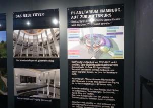 Der Innenbereich des Info-Pavillons