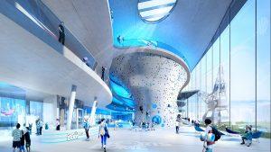 Der Care-Energy Sports-Dome überzeugt durch die Kombination von über 25 Trendsportarten, hervorragenden Energiebilanzwerten und modernste Architektur