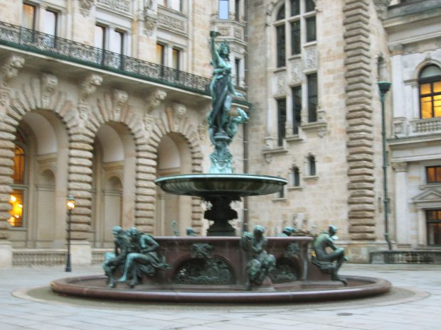 Innenhof des Hamburger Rathauses