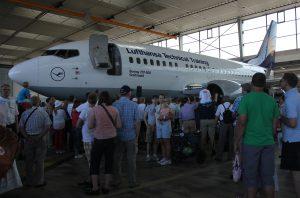 Airbus in der halle der Lufthansa technik