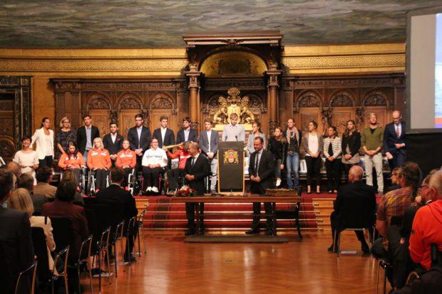 Hamburgs Olympia-Teilnehmer im Rathaus