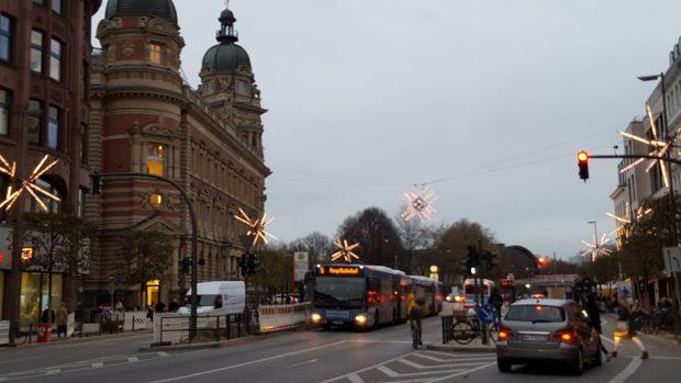 Der Weihnachtsstern auf der Dammtorstraße