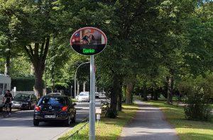 Die Fahrradstraße an der Alster