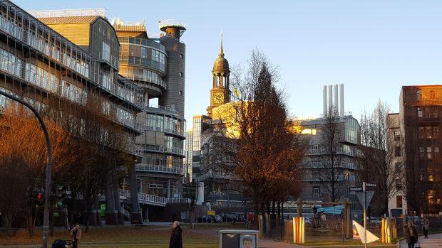 Das Verlahshaus Gruner + Jahr am Baumwsll