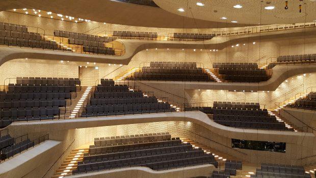Der große Konzertsaal in der Elbphilharmonie