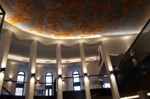 Der Ausstellungsbereich im Foyer des Planetariums