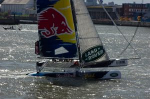 Das Red Bull Team bei den Extreme Sailing Series in der HafenCity