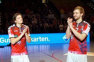 Der Handball SV Hamburg verabschiedet Sebastian Bütow und Ole Stabick