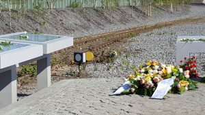 Gedenktatfel an der Gedenkstätte Hanoverscher Bahnhof