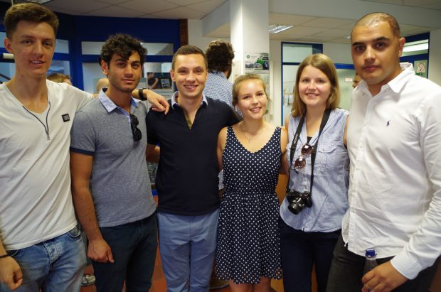 Das Team von links - Leon Feld, Yakup Çagala, Timon Feld, Rebecca Lunderup, Hannah Lunderup, Suleiman Sedeghi