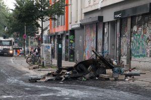 Verwüstung im Schanzenviertel nach Ausschreitungen beim G20 Gipfel