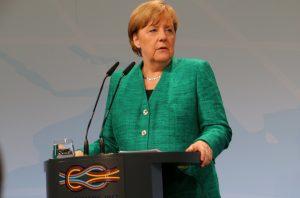 Bundeskanzlerin Angela Merkel bei der Pressekonferenz zum G20 Gipfel in Hamburg