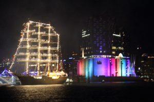 Elbphilharmonie Illumination annlässlich des CSD