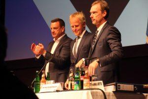 Das Scheidende Präsidium des HSV: Henning Kinkhorst, Jens Meier, Ralph Hartmann