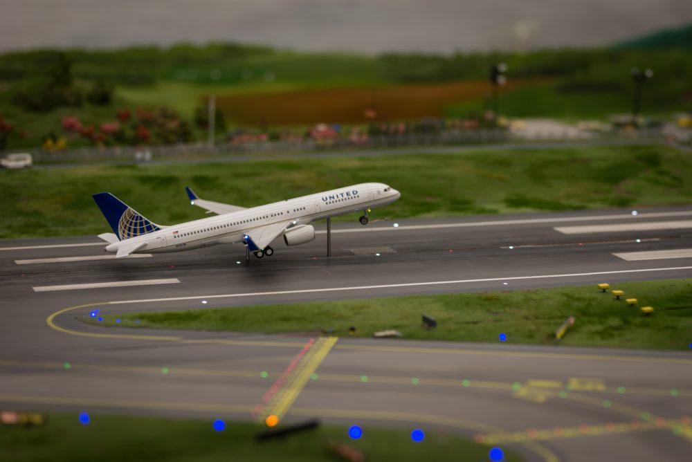 United Airlines im Miniatur Wunderland