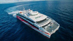 Der Helgoland Neubau der Förde Reederei Seetouristik verabschiedet sich von den Philippinen (c) AUSTAL
