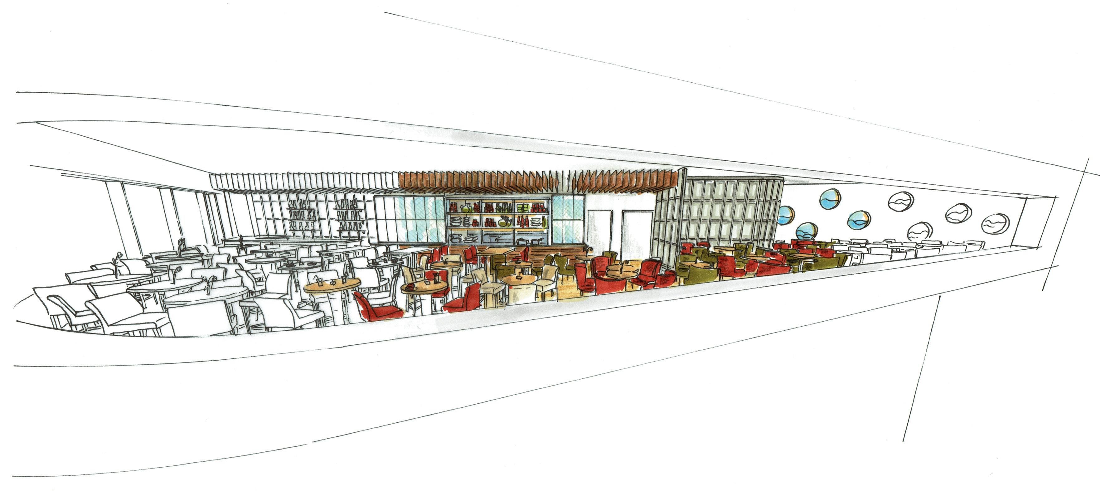 Entwurf Restaurant Überseebrücke