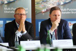 Johannes Kahrs und Kultursenator Carsten Brosda