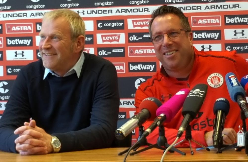 Uwe Stöver und Markus Kauczinski