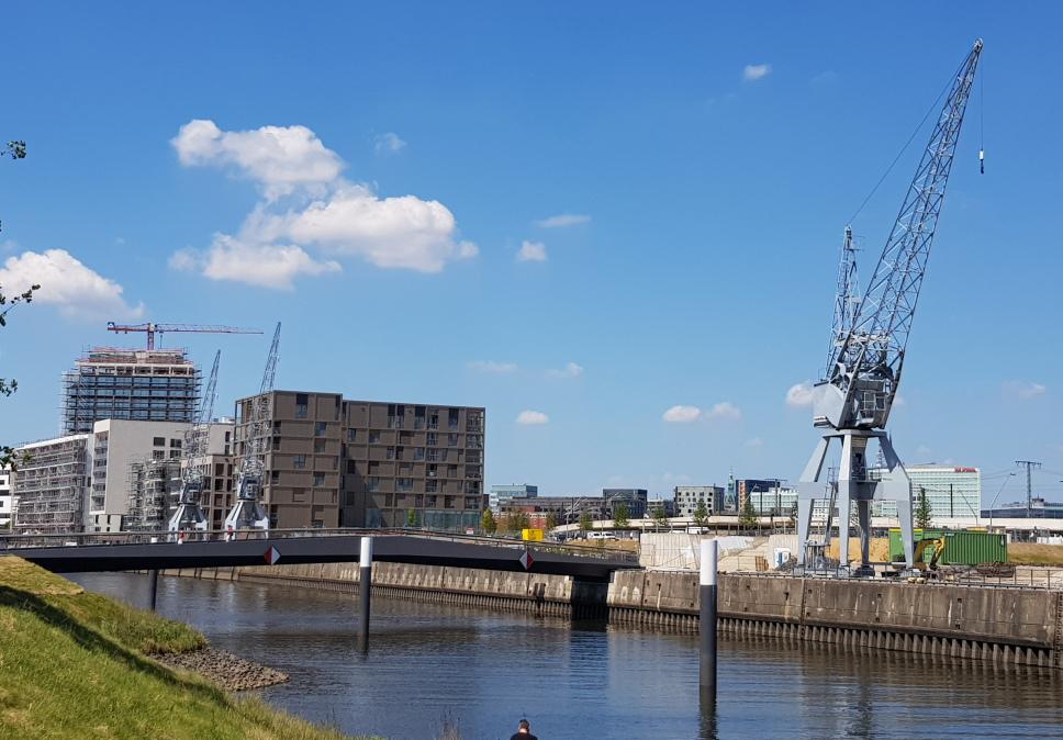 Historische Kräne im Baakenhafen