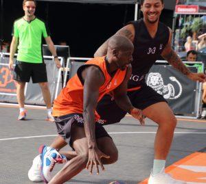 Streetbasketball auf der Reeperbahn