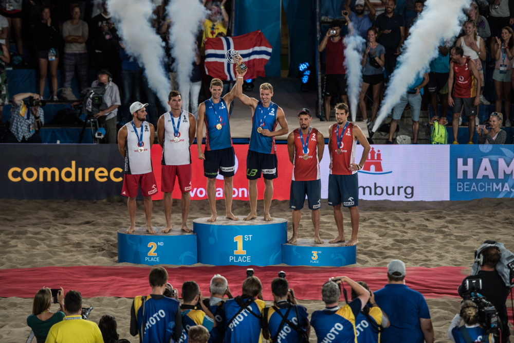 during the fourth stage of the Beach Volleyball Major Series at the