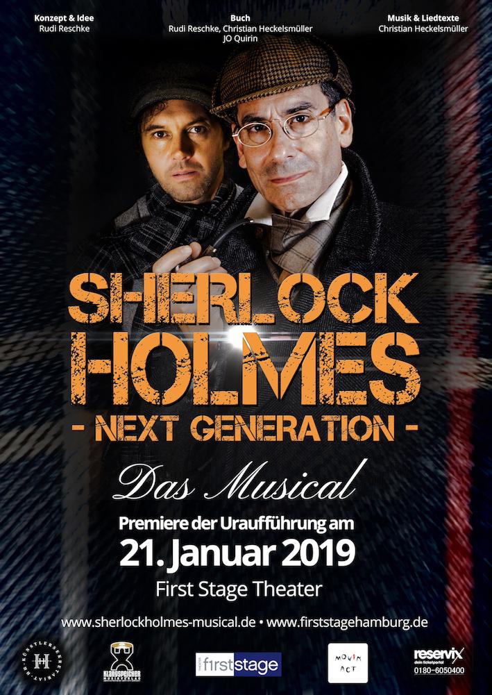 Sherlock Holmes Musical Plakat