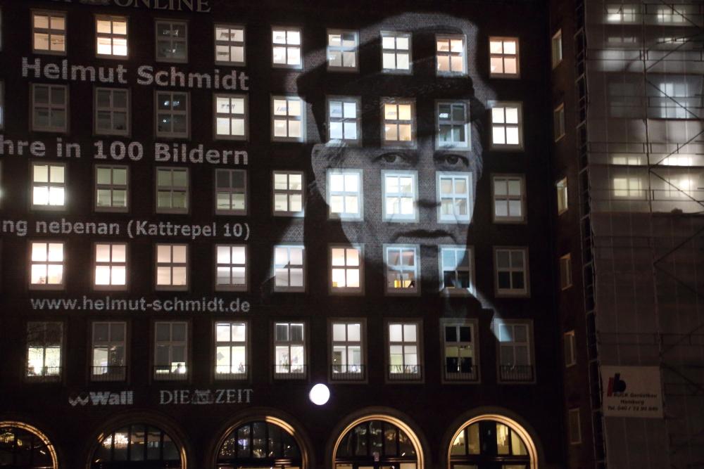 Lichtinstallation Helmut Schmidt