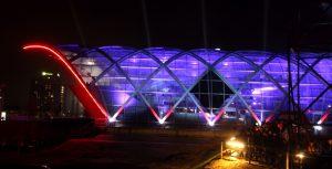 Lichtshow zur Eröffnung