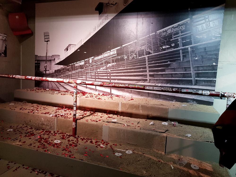 Das alte Stadion im St. Pauli Museum