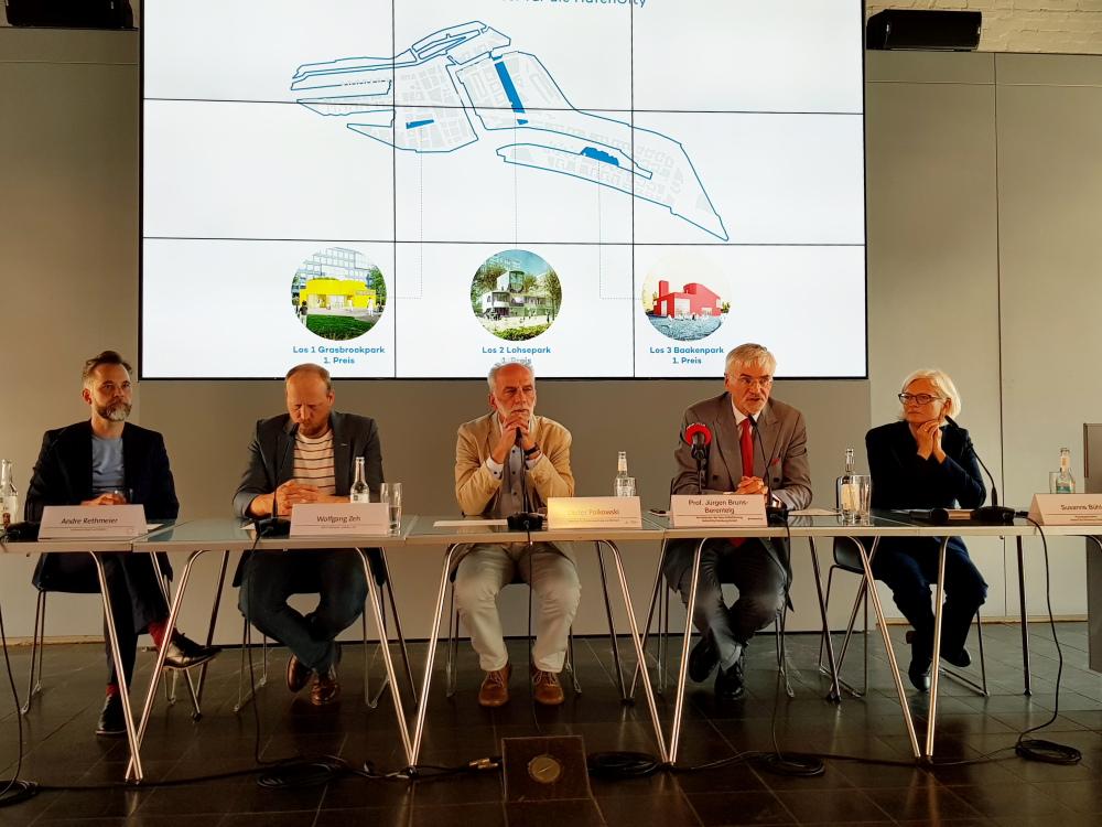 v.l.: Andre Rethmeier, Wolfgang Zeh, Dieter Polkowski, Prof. Jürgen Bruns-Berentelg und Susanne Buehler