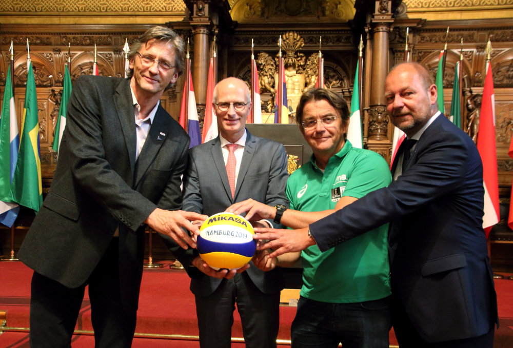 Rathaus Empfang zu den Beach Volleyball Championship
