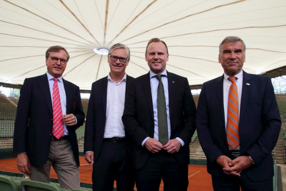v.l.: Dr. Carsten Lütten, Alexander Otto, Andy Grote, Ulrich Klaus