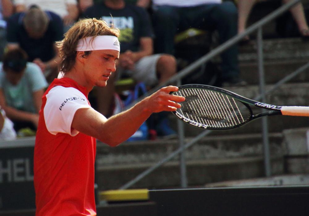 Alexander Zverev ärgert sich über eine vergebene Chance