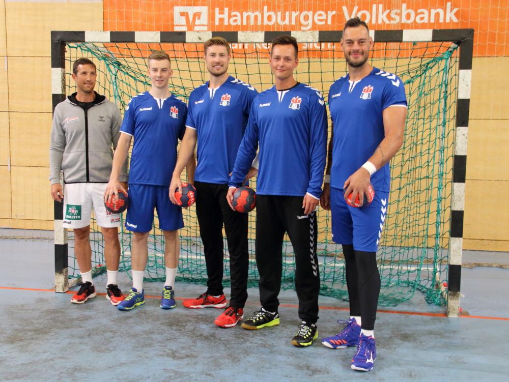 v.l. Torsten Jansen, Jonas Gertges, Tobias Schimmelbauer, Mark van Beucken, Jens Schöngarth