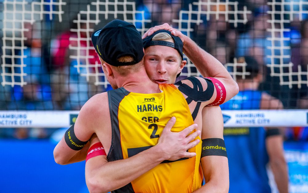 Yannick Harms und Philipp Arne Bergmann Foto: © FIVB