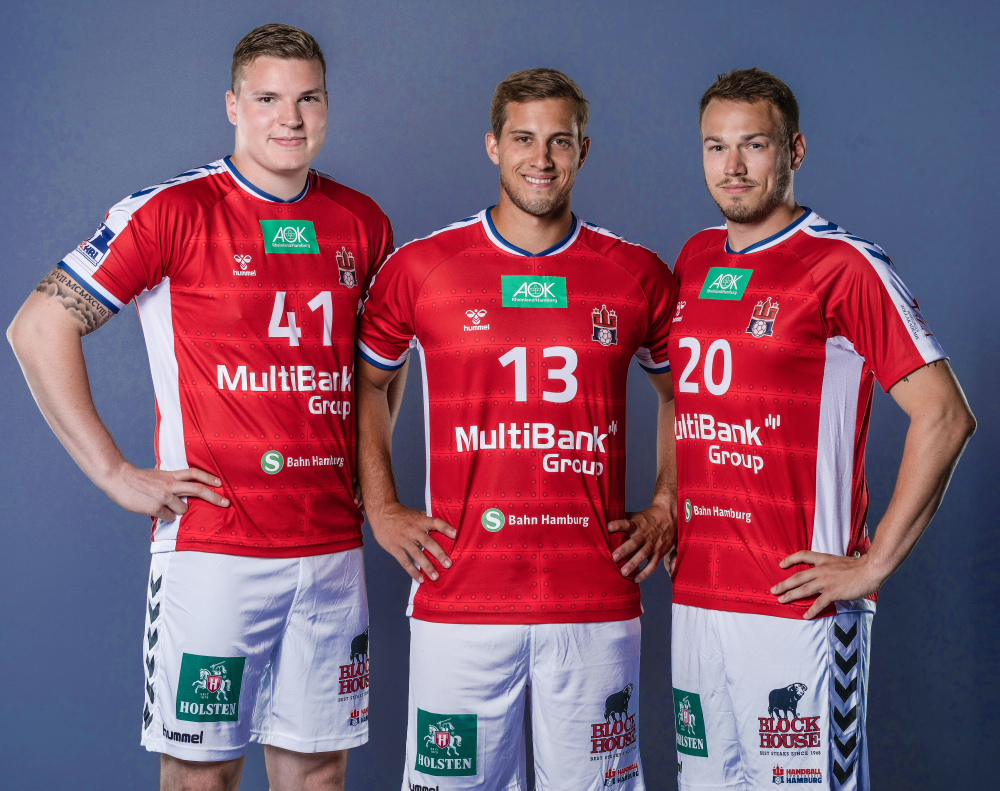 HSVH_PM_Neues Trikot_Dominik Vogt_Niklas Weller_Marius Fuchs
