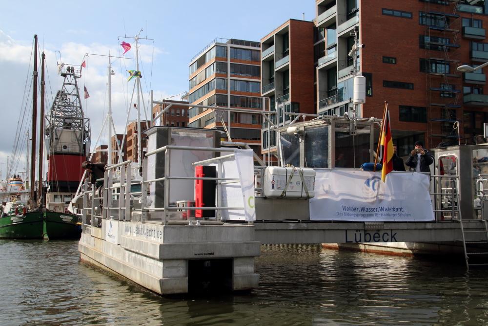 Plastik-Müllsammelschiff Seekuh